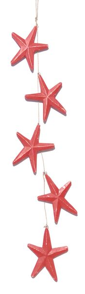 Wooden Star Strand - Red