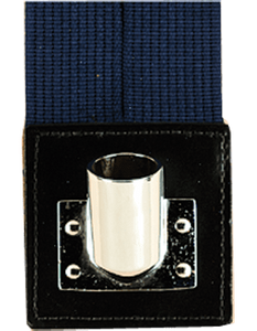 Navy Blue Web Flagset Carrier Double-Strap w/Chrome Cup
