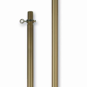 8'x1 1/8 Inch 2-Piece Gold Aluminum Pole