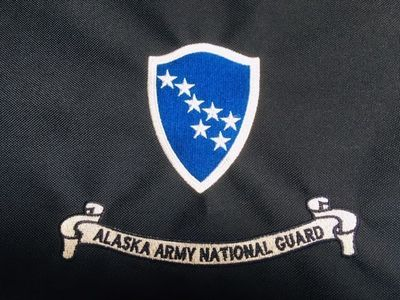 Alaska Army National Guard Mini Framable Flag