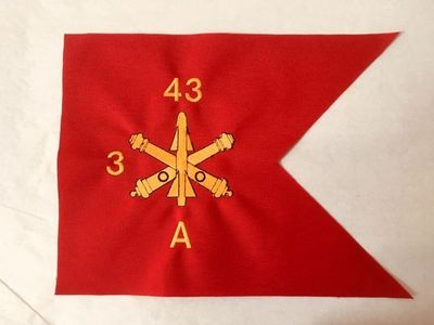 Army Air Defense Artillery Branch Guidon (9x12)