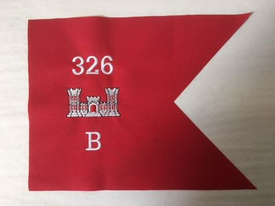 Army Engineer Branch Framable Guidon 9x12