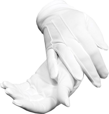 White Polyester Stretch Dress Gloves (One Size)