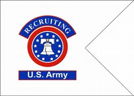 US Army Recruiting framable Guidon 9x12