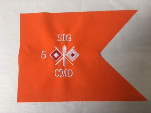 Army Signal Corps Branch framable Guidon 9x12