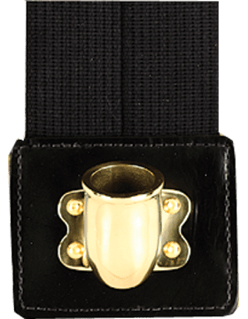 Black Flagset Carrier Double-Strap w/Brass Cup
