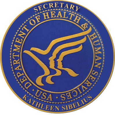 Dept Of Health & Human Services Wall & Podium Plaques hand Carved Mahogony