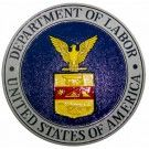 Dept Of Labor Wall & Podium Plaques hand Carved Mahogony