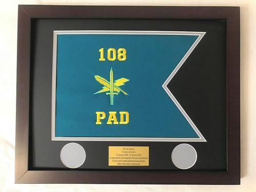 Framed Small Army Guidons