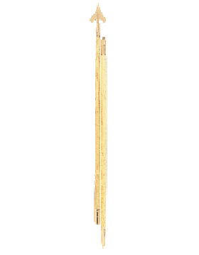 G-Spec Guidon Pole Set w/Center Threads & Silver Finish (Several Sizes)