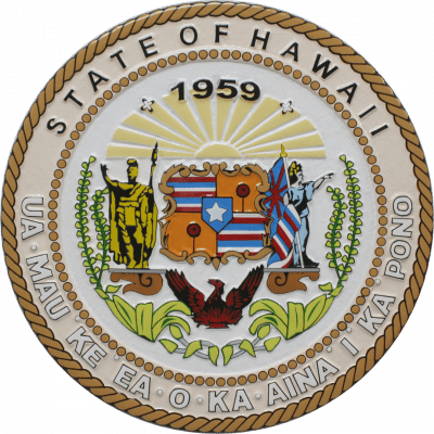 Hawaii State Seal Wall & Podium Plaque