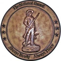 National Guard Brass Painted Wall Plaque