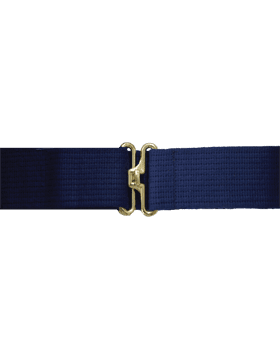 Navy Blue Cotton Web Pistol Belts w/Gold finish