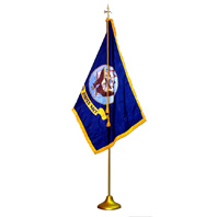 Navy Indoor Flag Presentation Set