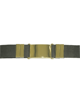 Olive Drab Parade Belt w/Gold Buckle
