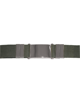 Olive Drab Parade Belt w/ Silver Buckle