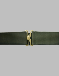 Olive Drab Web Pistol Belt w/Gold Finish