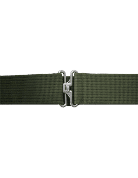 Olive Drab Web Pistol Belt w/Silver Finish