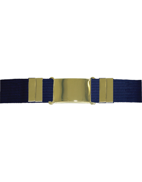 Parade Belt Blue w/Gold Buckle