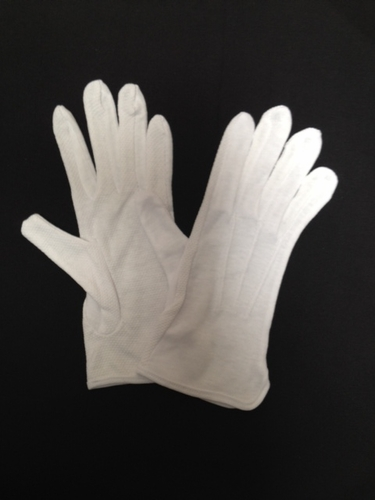 White Cotton Gripper Gloves