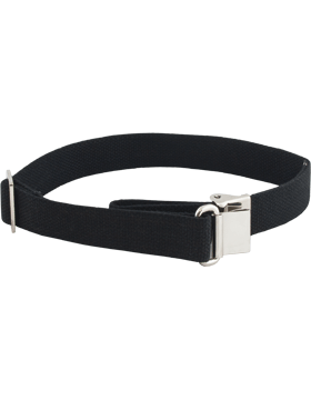 "Rifle Sling Black Web 1. 1/4""  with Silver Finish"