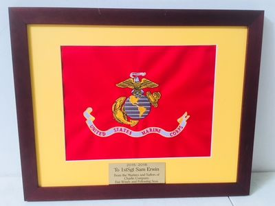 Small Framed USMC Organizational Colors