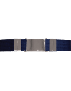 Parade Belt Blue w/Silver Buckle
