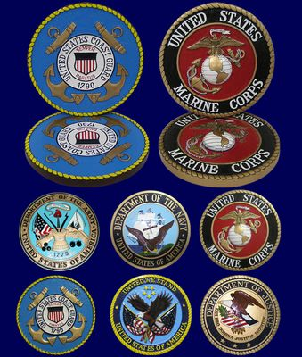U.S. Armed Forces Wall & Podium Plaques