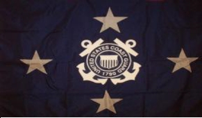 U.S. Coast Guard Admiral Flags (4 Star)