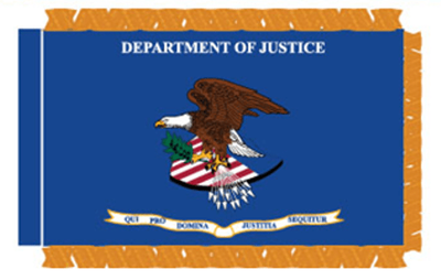U.S. Department Of Justice Flags