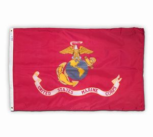 U.S. Marine Corps Outdoor Nylon Flags (Various Sizes)