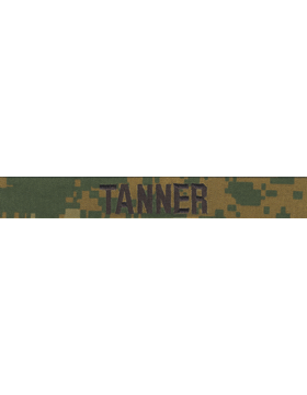 U.S. Marine Corps Woodland Pattern Name Tapes