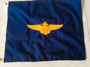 "U.S. Naval Aviator Embroidered Flag 18""x26"" w/Grommets"