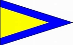 U.S. Navy 1st Substitute Signal Pennant