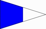 U.S. Navy 2d Substitute Signal Pennant