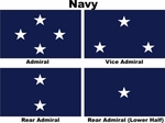 U.S. Navy Admiral Officer Flags