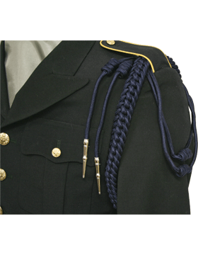 Uniform Shoulder Cord Single Braid w/Double Strand & Double Tip (Various Colors)
