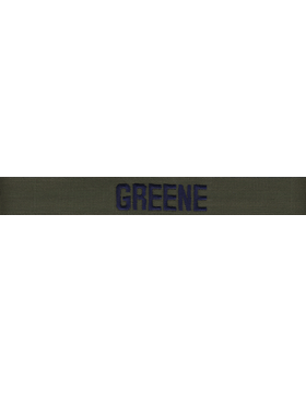 US Air Force Green Name Tape