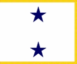 US Navy Rear Admiral 2 Star (Restricted) Flags