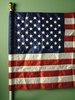 USA 2.5Ft x 4Ft Nylon Banner Flag (Embroidered)