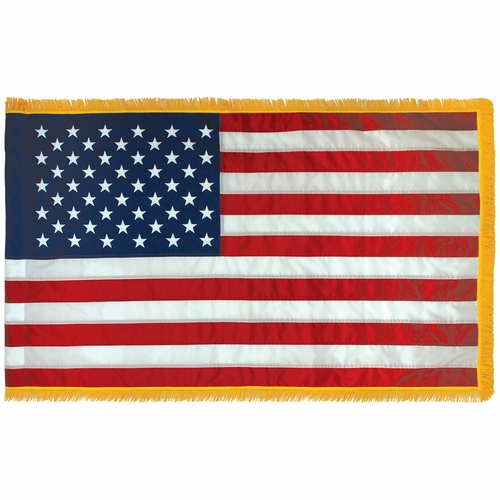 USA 4x6Ft Nylon Flag w/Fringe