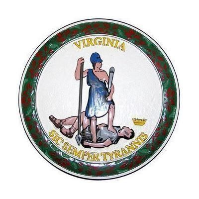 Virginia State Seal  Mahogany Wall & Podium Plaques