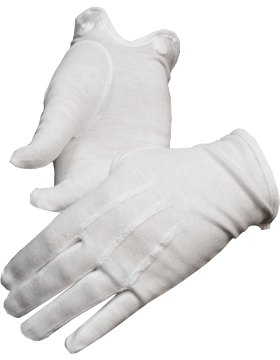 White Cotton Dress Uniform Gloves