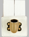 White Flagset Carrier Double-Strap w/Brass Cup