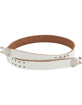 White Leather Honor Guard Rifle Slings