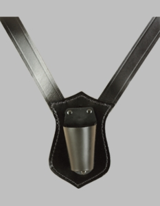 Black Leather Single Strap Flag Carry Harness