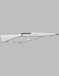 White Parade Rifle w/Black sling
