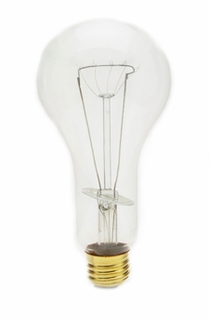 300PS30/CL-130 Pear Shaped, Medium Base Incandescent Light Bulb (E26)