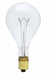 750PS52/CL-130 - Pear Shaped, Mogul Base Incandescent Light Bulb (E39)