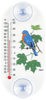 Bluebird and Maple Leaves Window Thermometer (Oblong)